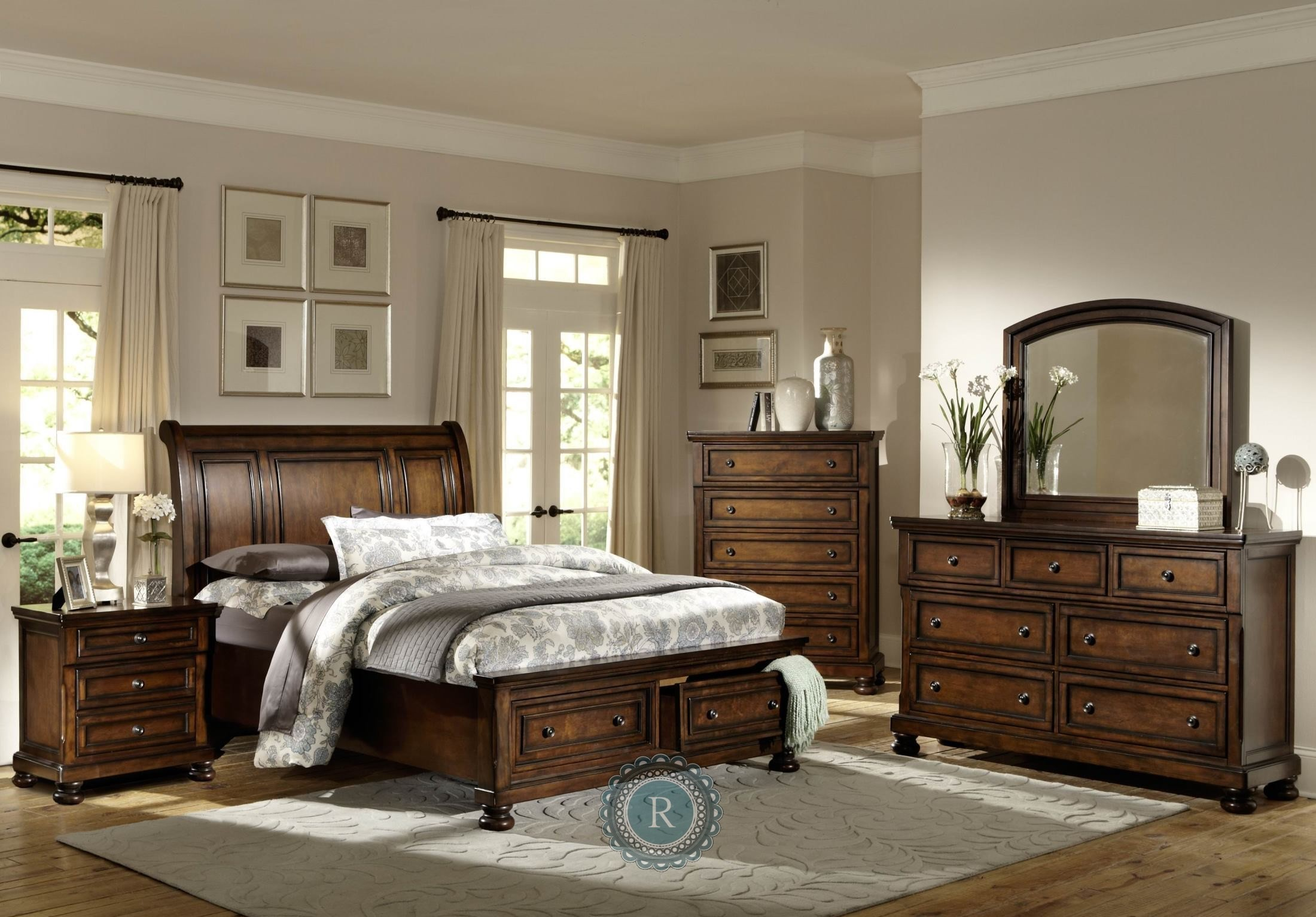 Cumberland Platform Storage Bedroom Set from Homelegance
