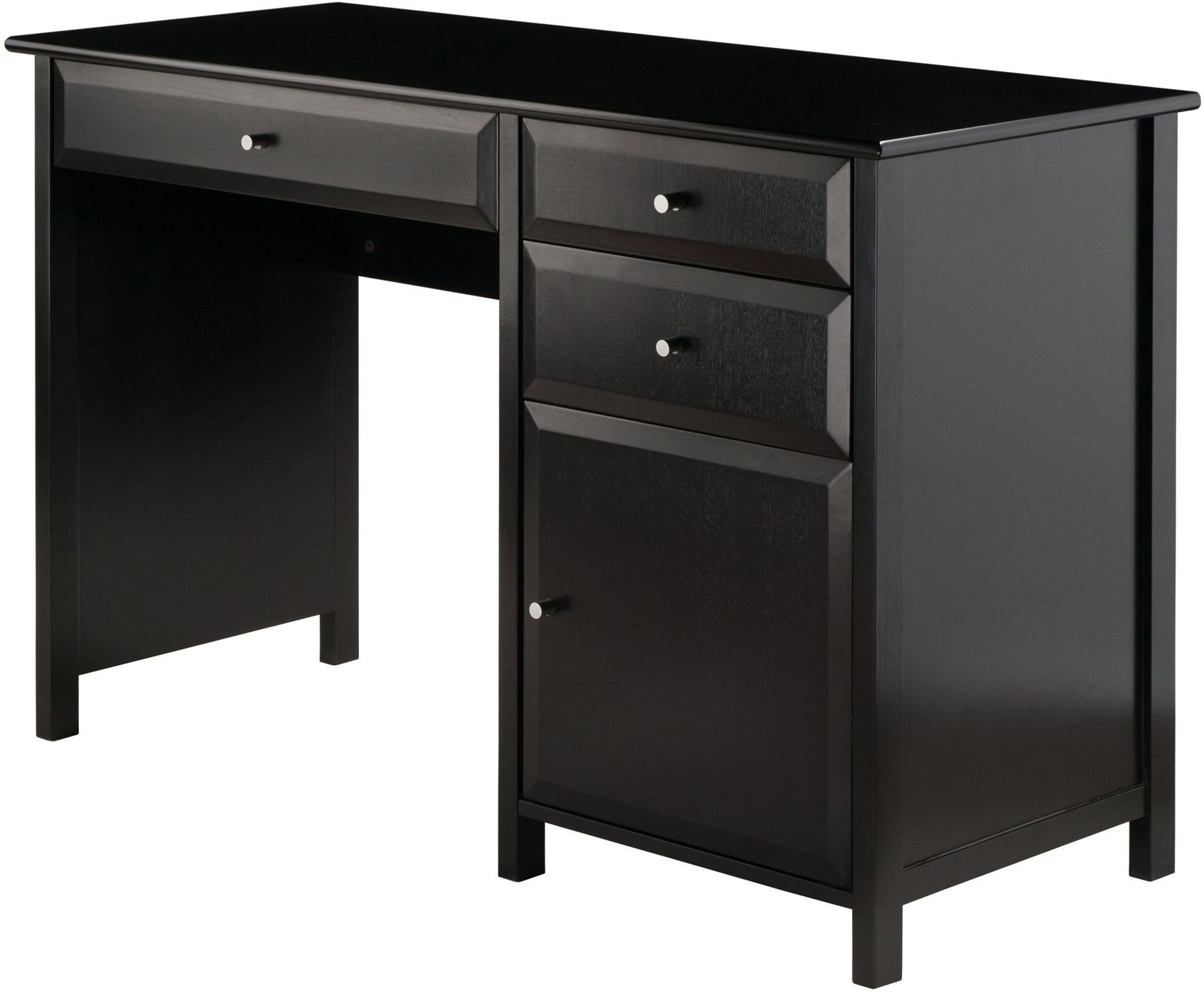 Delta Black Office Writing Desk from WinsomeWood  Coleman