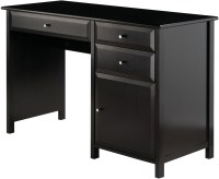 Delta Black Office Writing Desk from WinsomeWood | Coleman ...