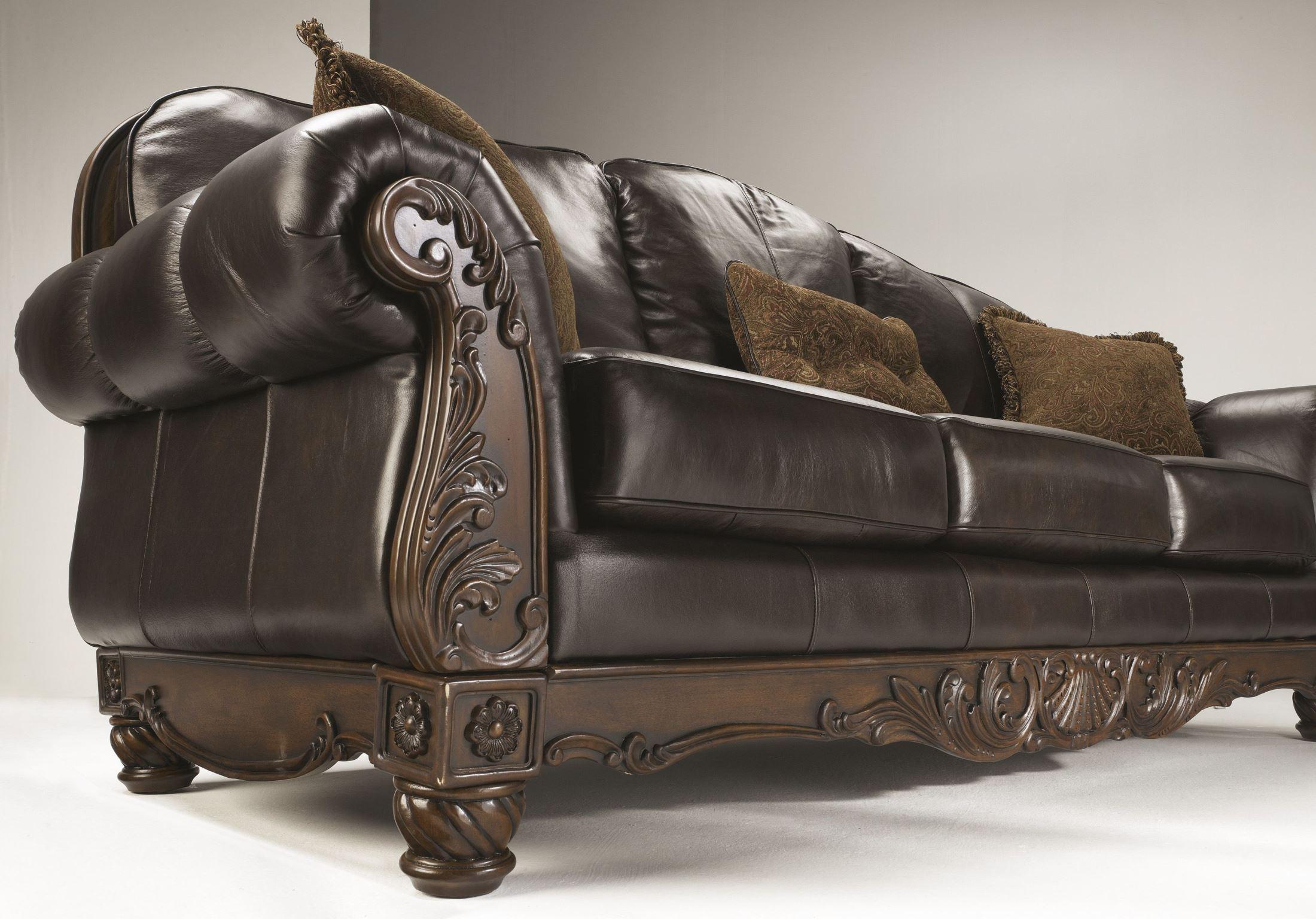 tosh furniture dark brown sofa set sofas san francisco bay area north shore from ashley 2260338