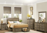 Sylvania Driftwood Platform Storage Bedroom Set from