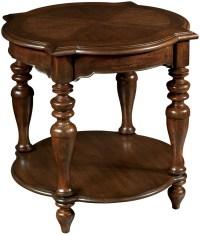 Vintage European Vintage Brown Round Corner Lamp Table ...