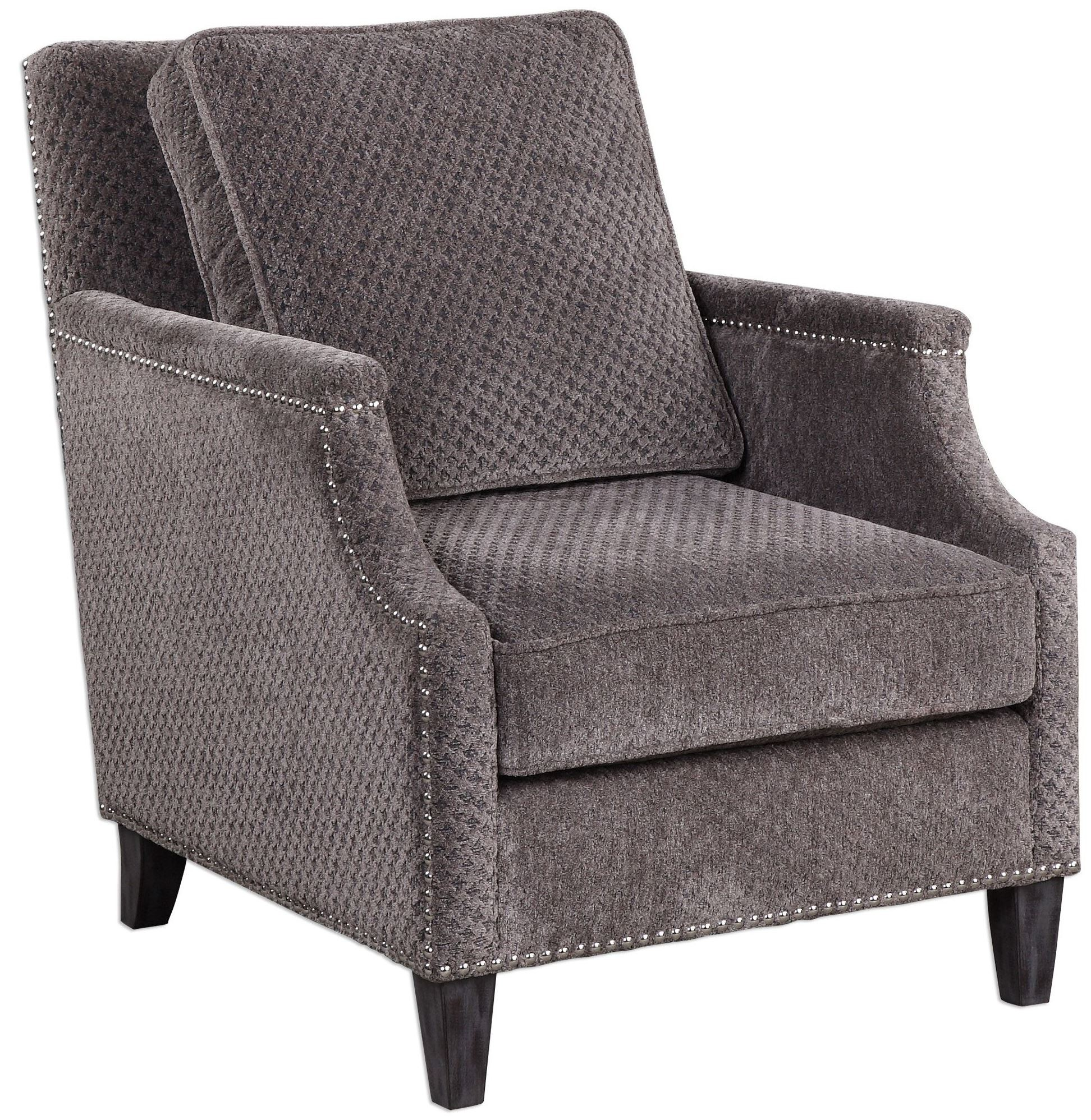 accent chair gray outdoor rattan chairs dallen pewter from uttermost 23312