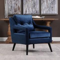 Blue Velvet Armchair Nz Beach Chairs Costco O 39brien 23318 Uttermost