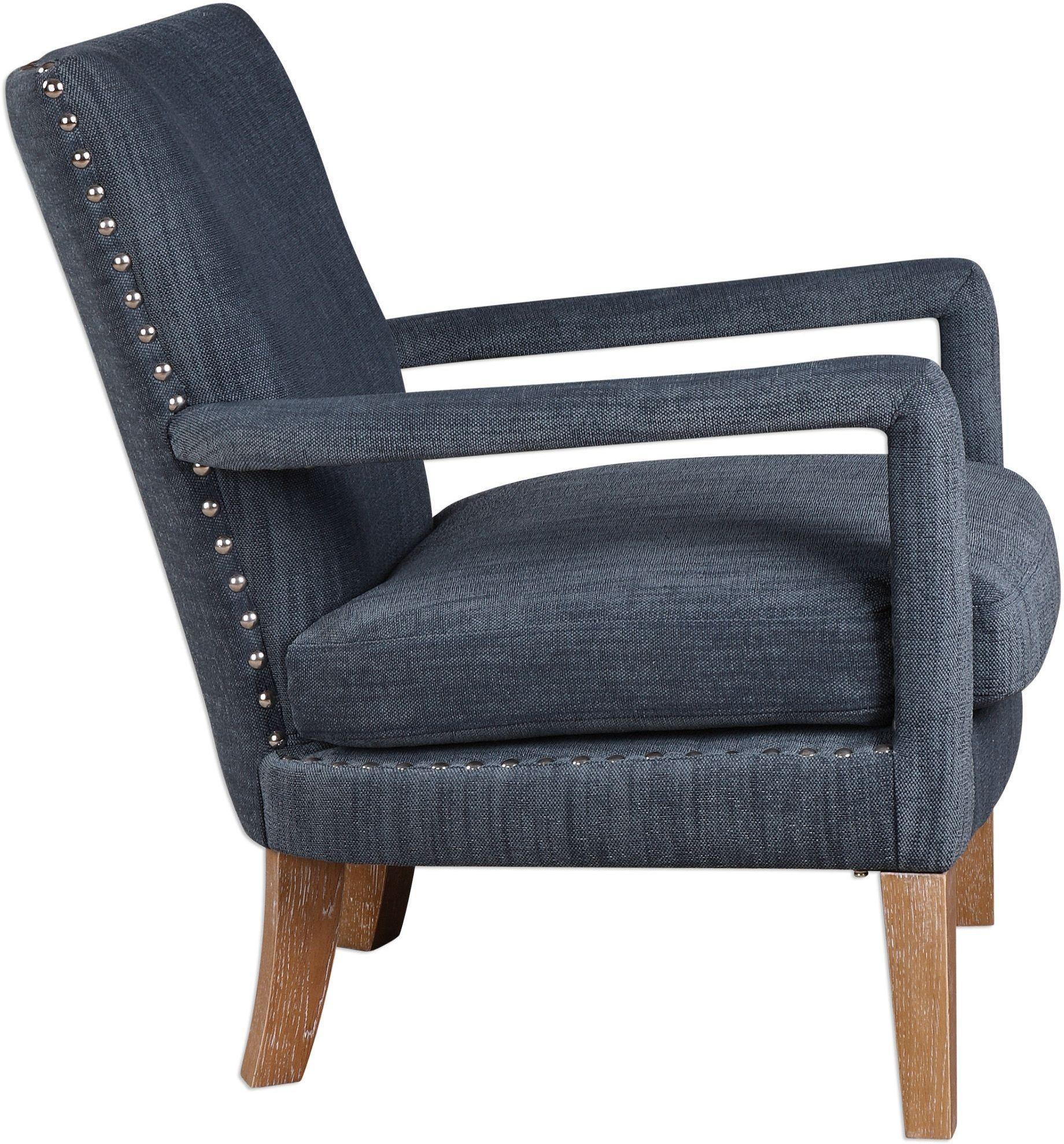 Wallis Soft Blue Arm Chair 23334 Uttermost