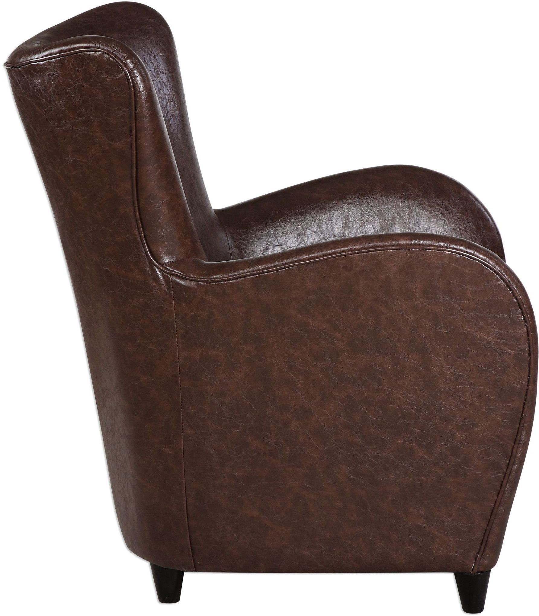brown leather sofa accent chair sure fit quilted soft suede waterproof throw lyric 23335 uttermost