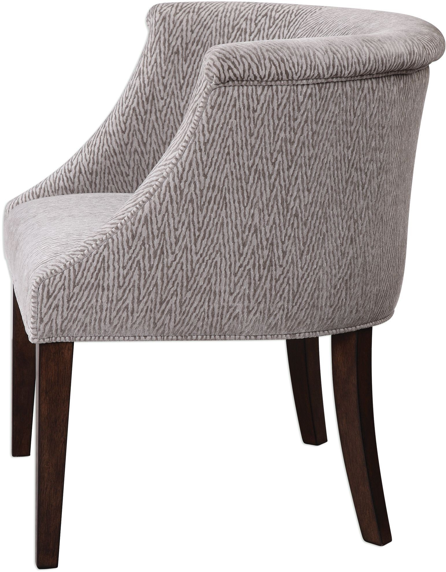 barrel accent chair cheap kitchen tables and chairs arthure gray back 23345 uttermost
