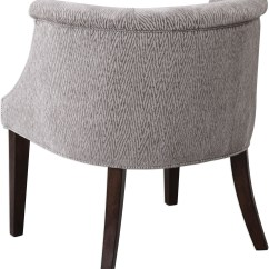 Barrel Accent Chair Reclining And A Half Slipcover Arthure Gray Back 23345 Uttermost