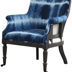 Blue And White Accent Chair Sport Folding Chairs Royal Cobalt From Uttermost Coleman