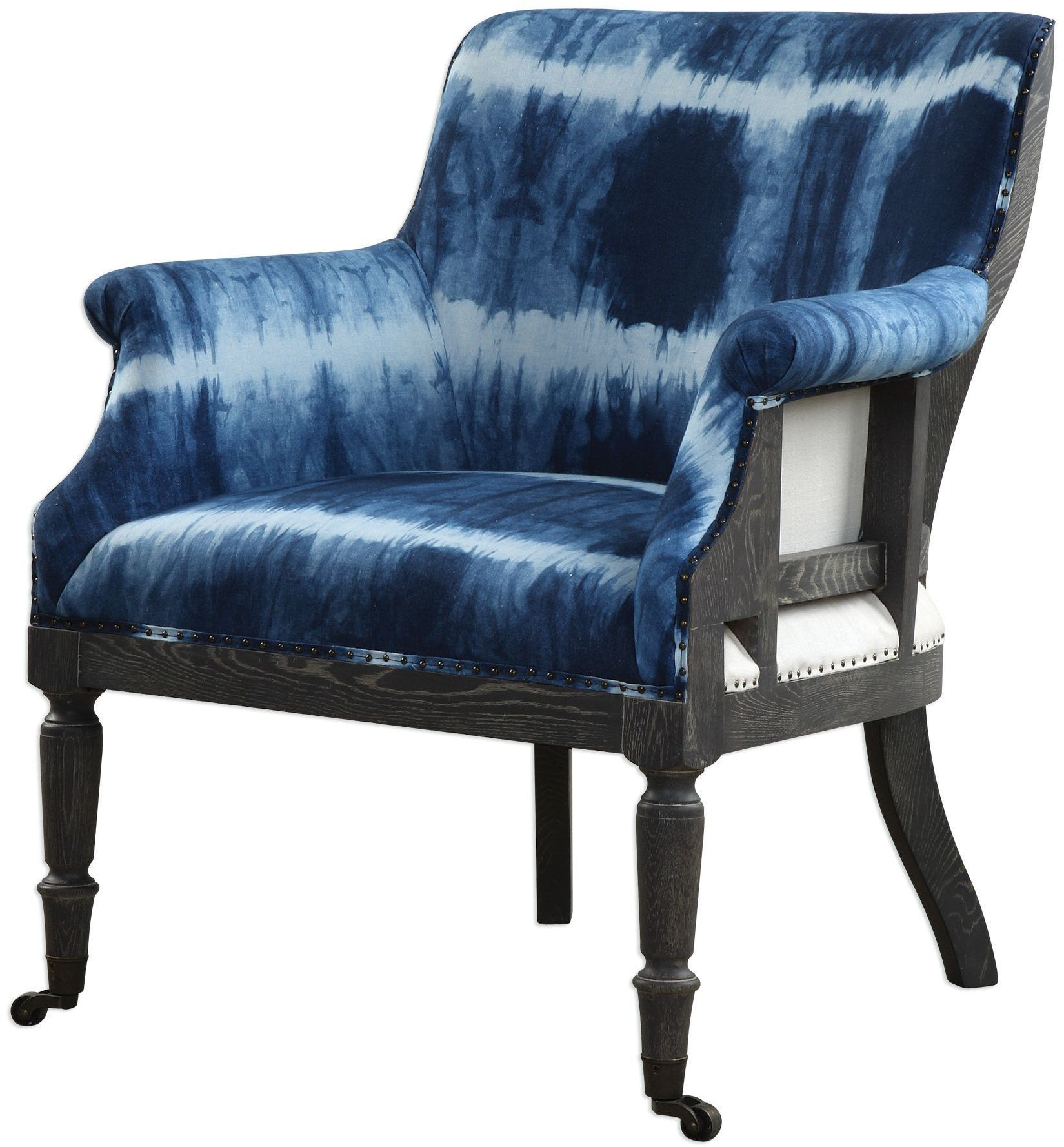 Accent Chairs Royal Blue Homcom Elegant Royal High Back Velvet