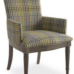 Grey Arm Chair The Ball Open Seating Oak Kate Plaid From Somerton