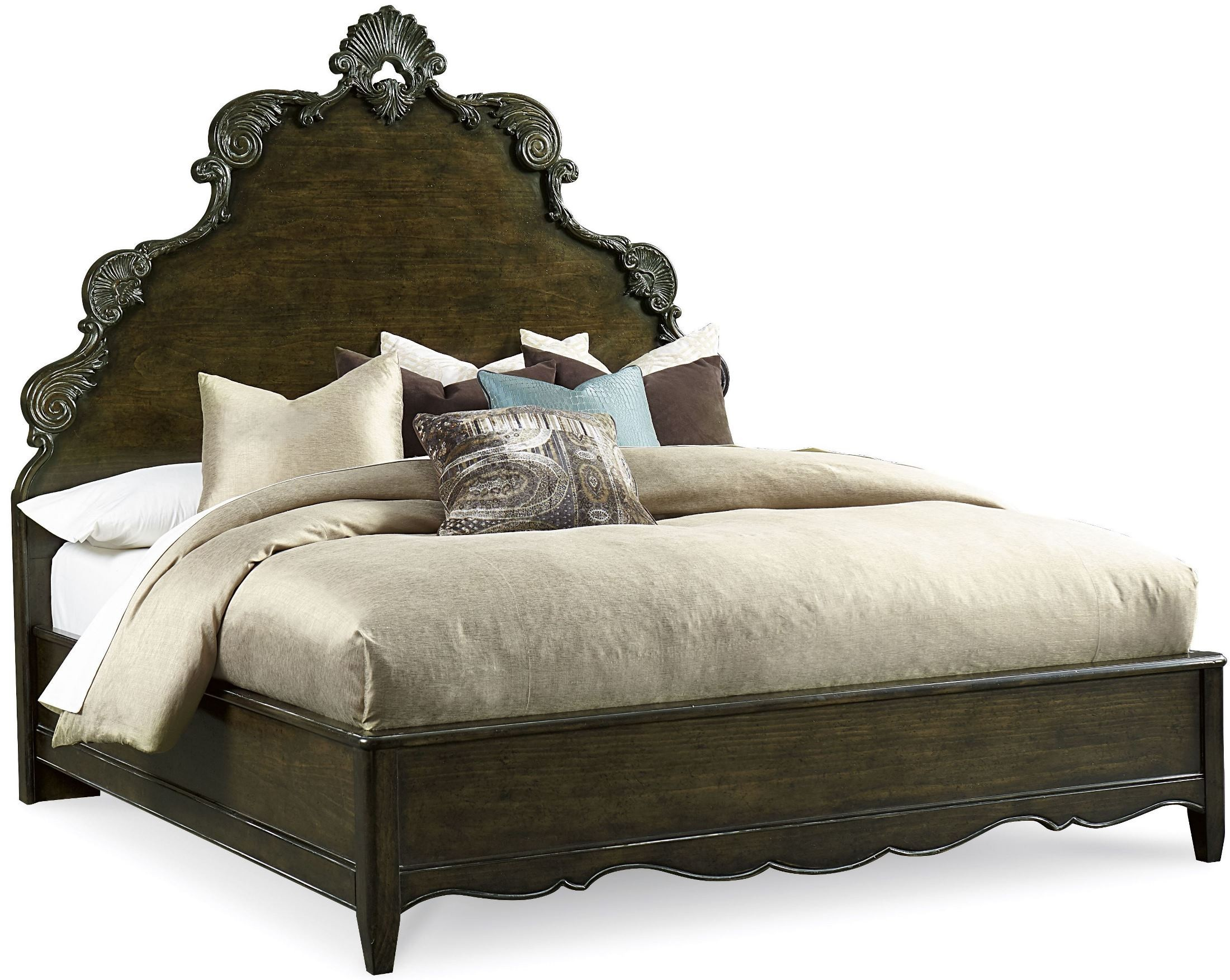 Continental Vintage Melange Cal King Panel Bed From Art