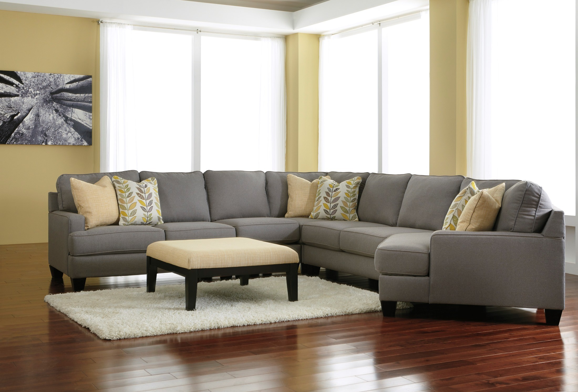 Chamberly Alloy RAF Cuddler Sectional From Ashley 2430275