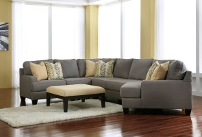 Chamberly Alloy RAF Cuddler Sectional from Ashley 2430275 ...