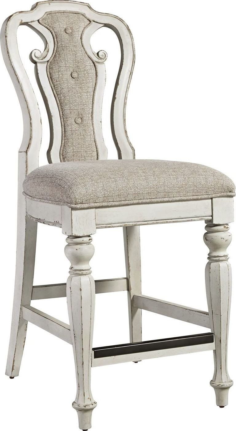 counter height chair baby beach magnolia manor antique white from liberty set of 2