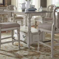 Antique White Dining Chairs Rubber Chair Rail Magnolia Manor Rectangular Counter Height