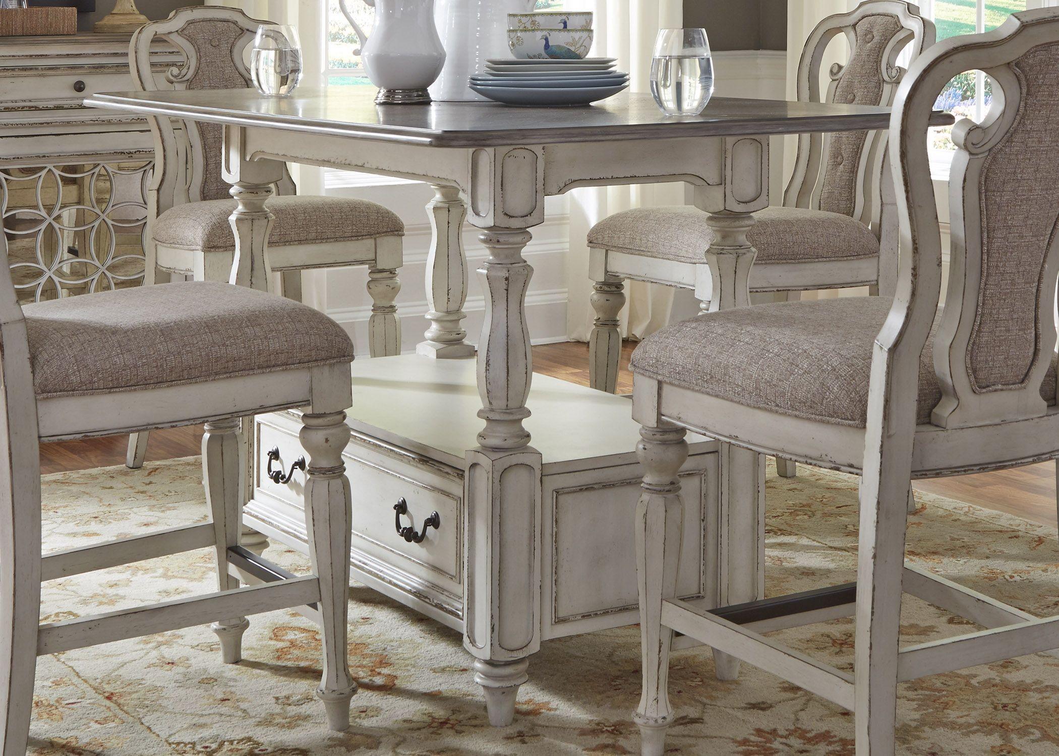 Magnolia Manor Antique White Rectangular Counter Height
