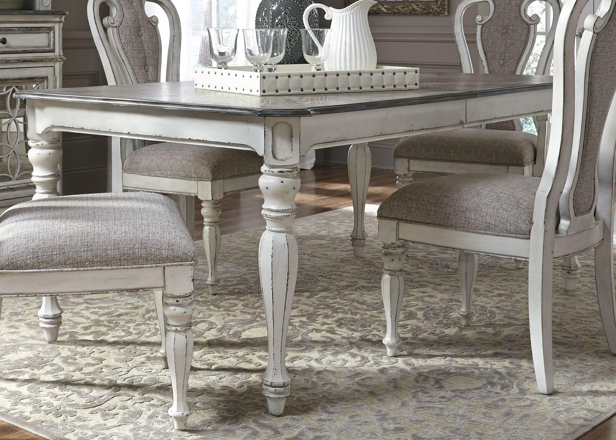 Magnolia Manor Antique White Extendable Rectangular Dining