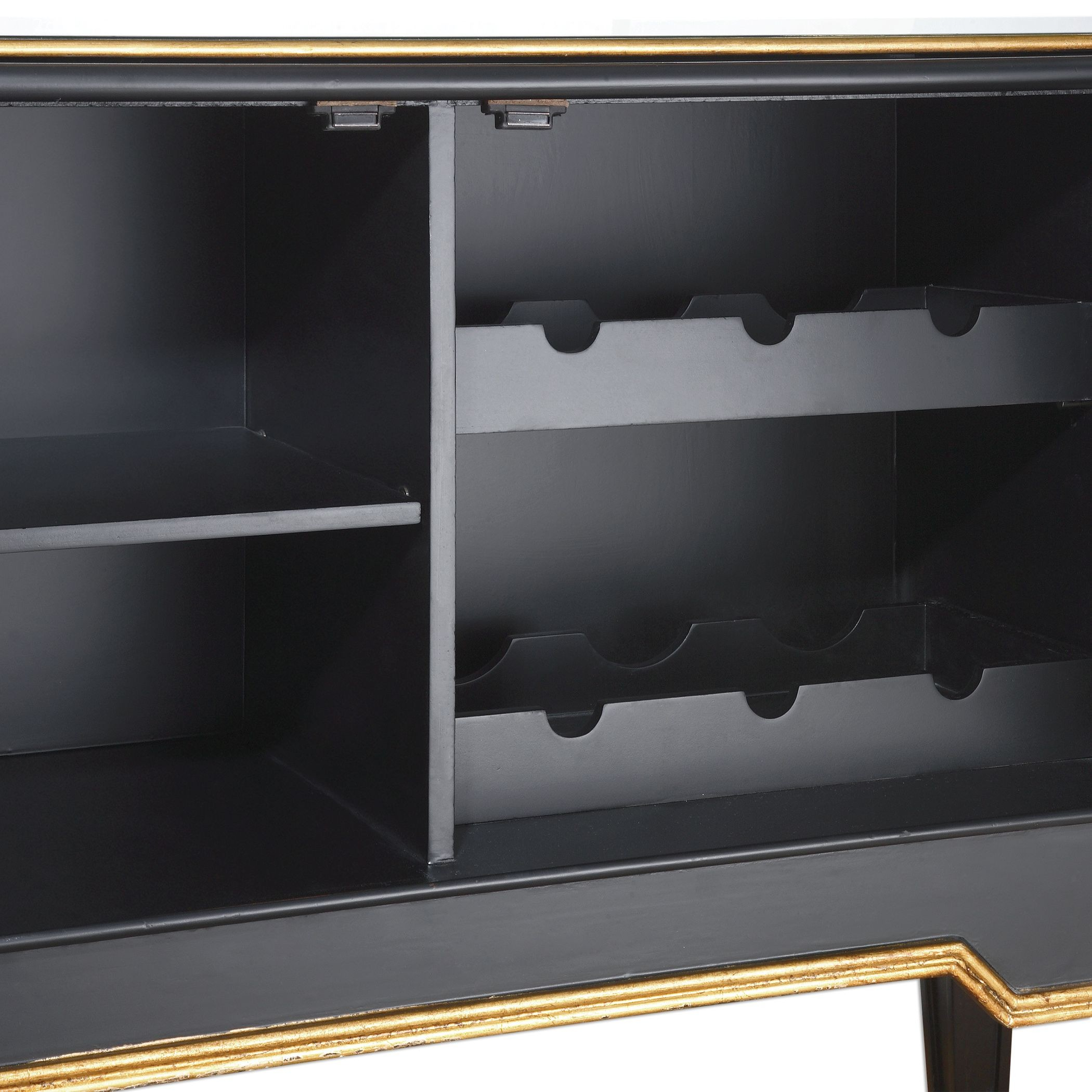 Marciel Mirrored Wine Cabinet from Uttermost (24519