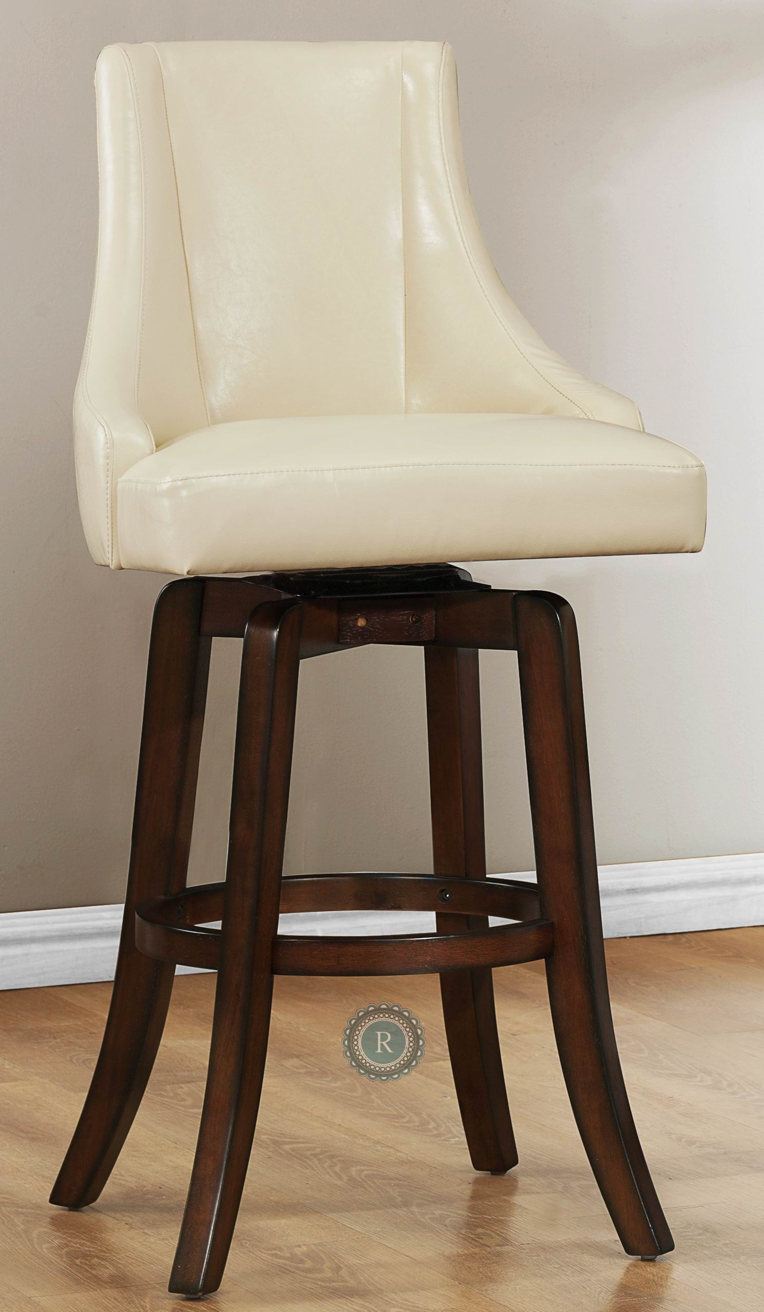 pub height chairs personalized folding stadium annabelle cream chair from homelegance 2479