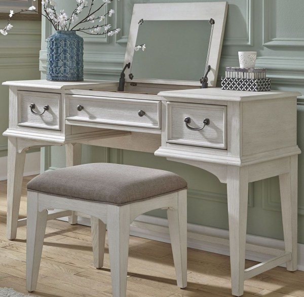 Bayside Youth White Vanity Desk Liberty Coleman