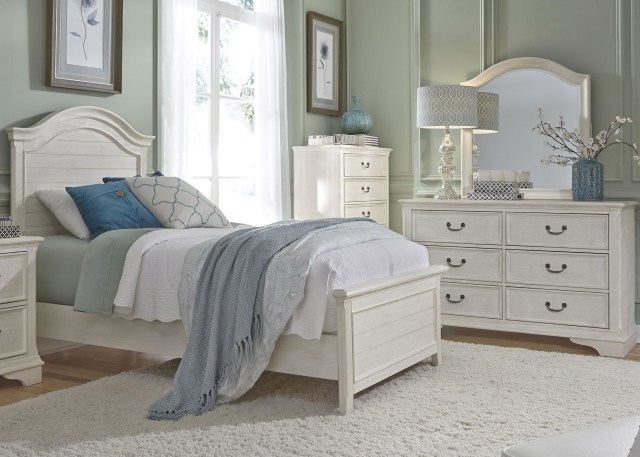 Bayside Youth White Panel Bedroom Set from Liberty