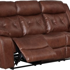 Light Brown Leather Reclining Sofa 3 Seater Fabric Grey Benedict Dual From New Classic