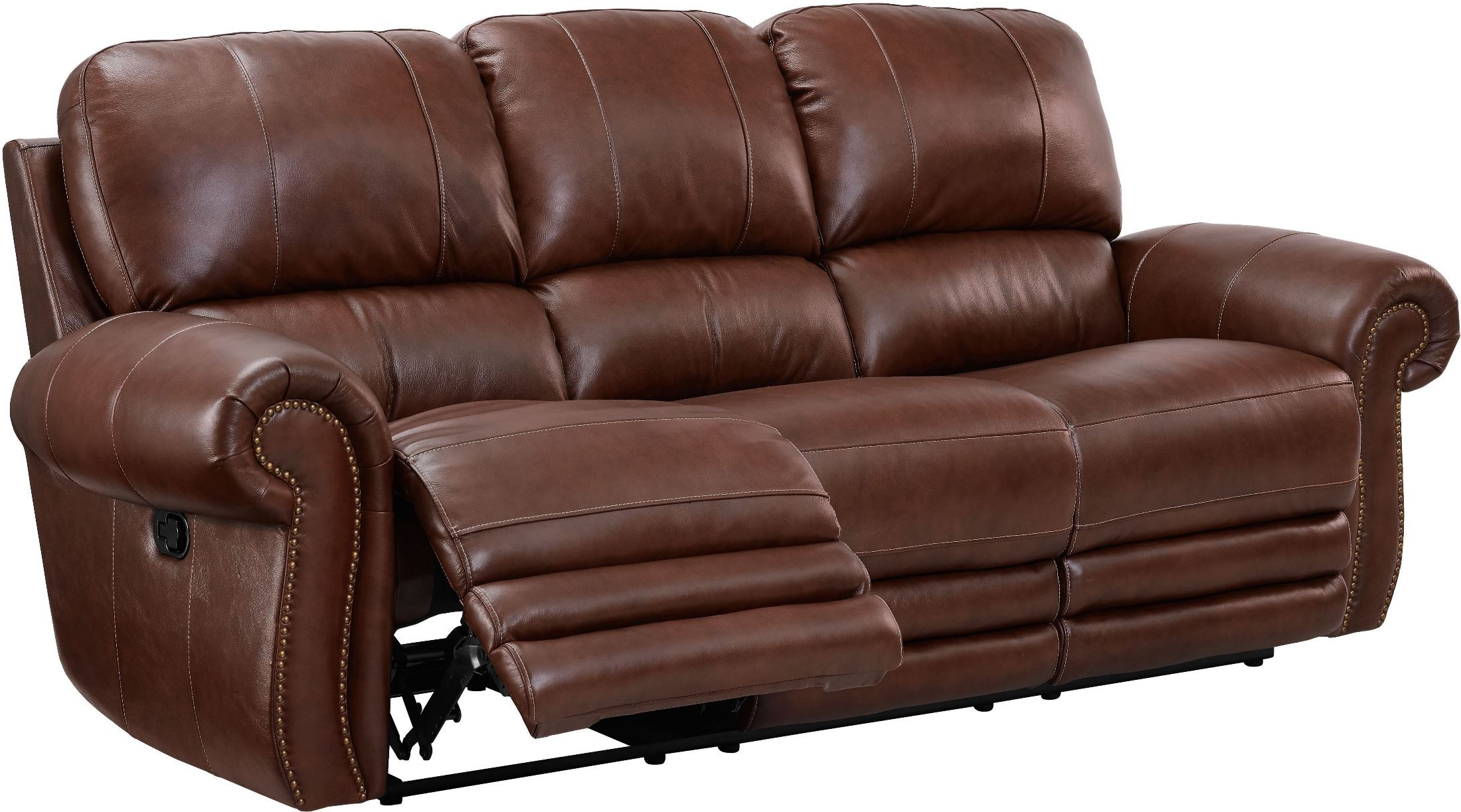 light brown leather reclining sofa milan set rossi dual living room l2652 30