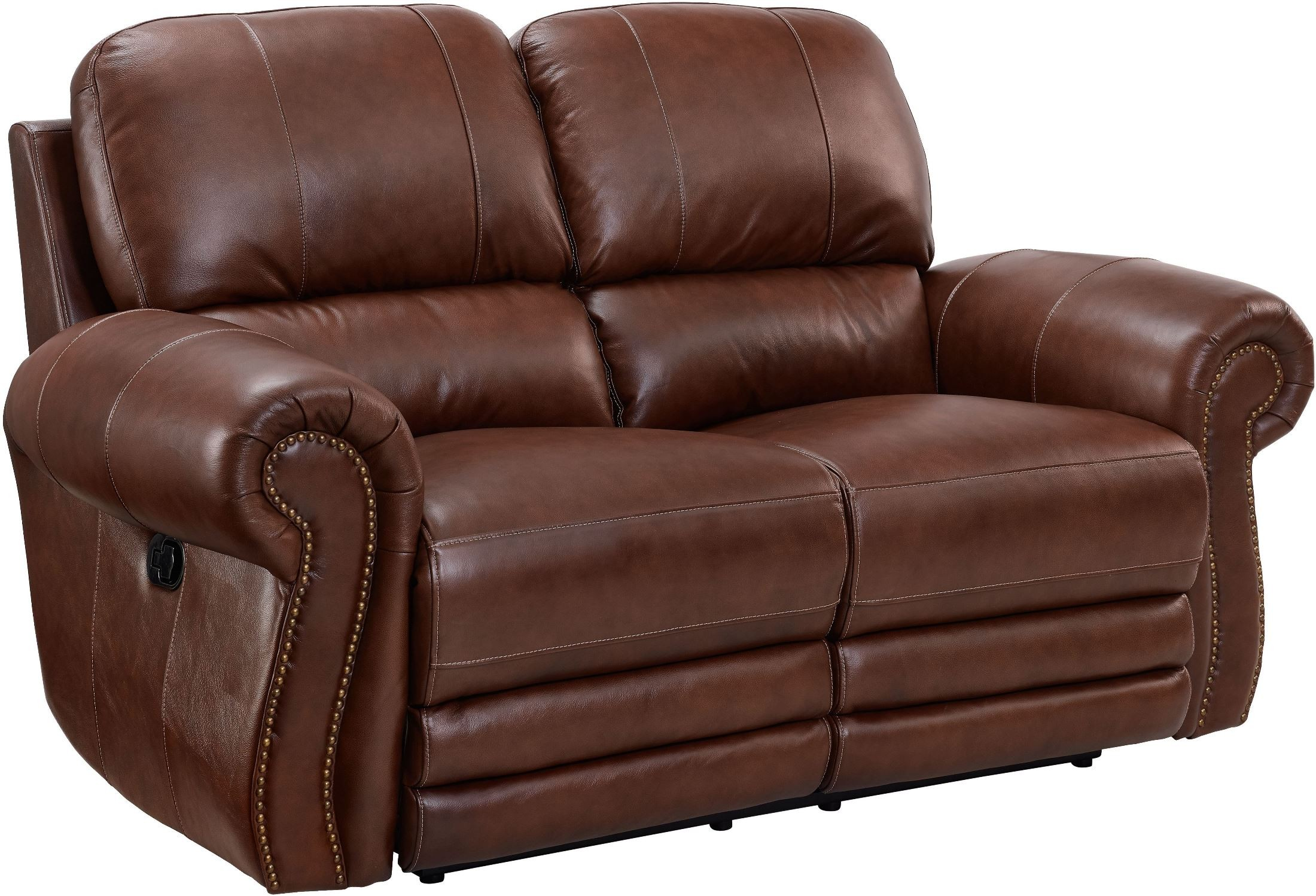 light brown leather reclining sofa macys sectional sleeper rossi loveseat from new classic