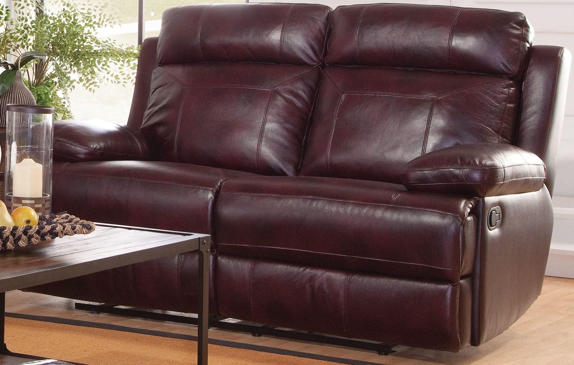 burgundy sofa and loveseat wooden set designs in delhi mansfield reclining l6807 20 bbr new