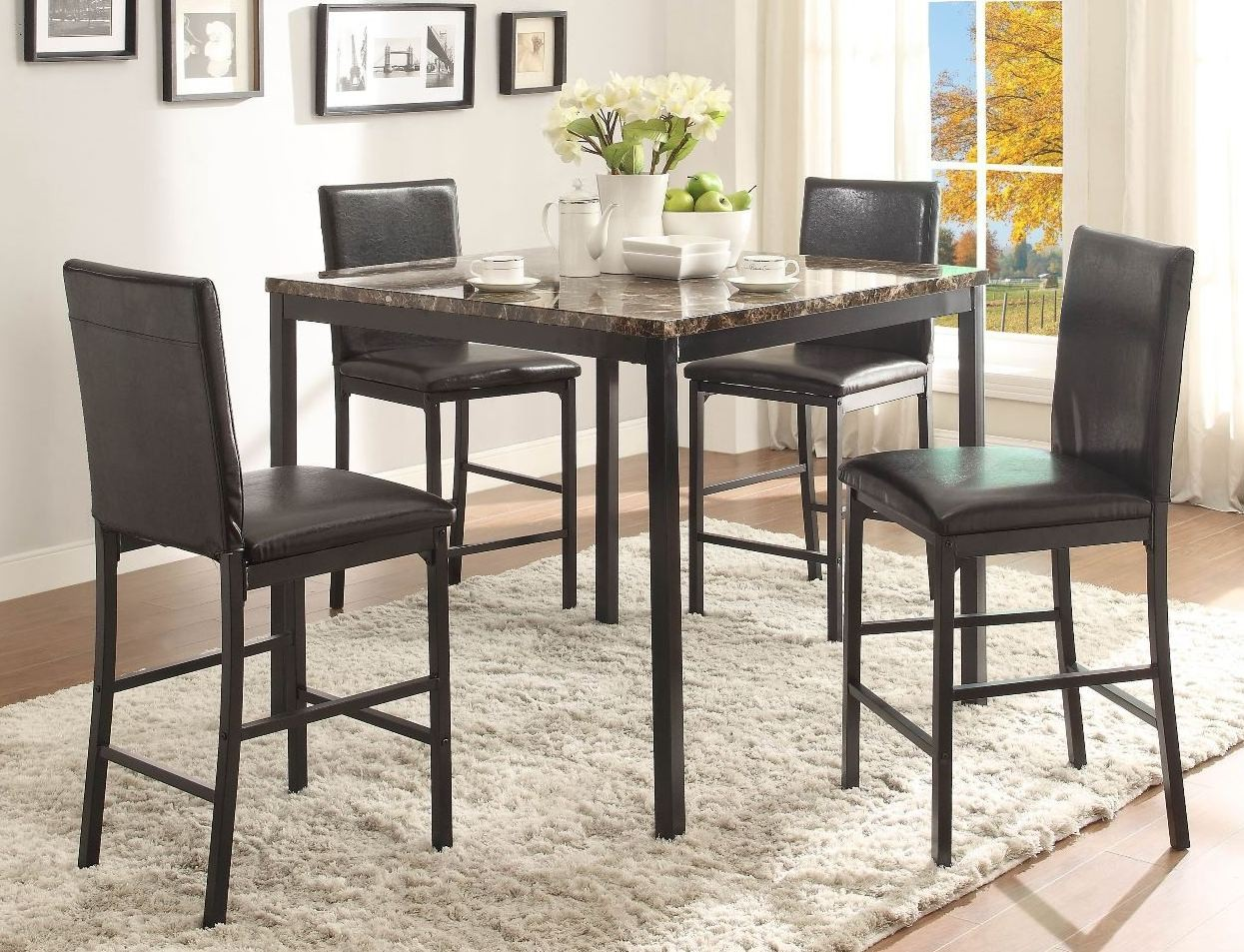 kohls dining chairs retro kids table and tempe counter height room set from homelegance
