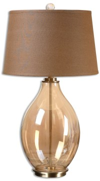 Bartolomeo Amber Glass Table Lamp from Uttermost (26683 ...