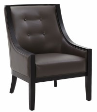 Cyrano Grey Leather Arm Chair from Sunpan (27238 ...
