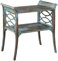 Blue and Brown Saber Leg Lamp Table from Hekman Furniture ...