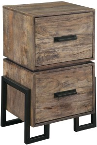 Brown and Black Two Drawer File Cabinet from Hekman ...