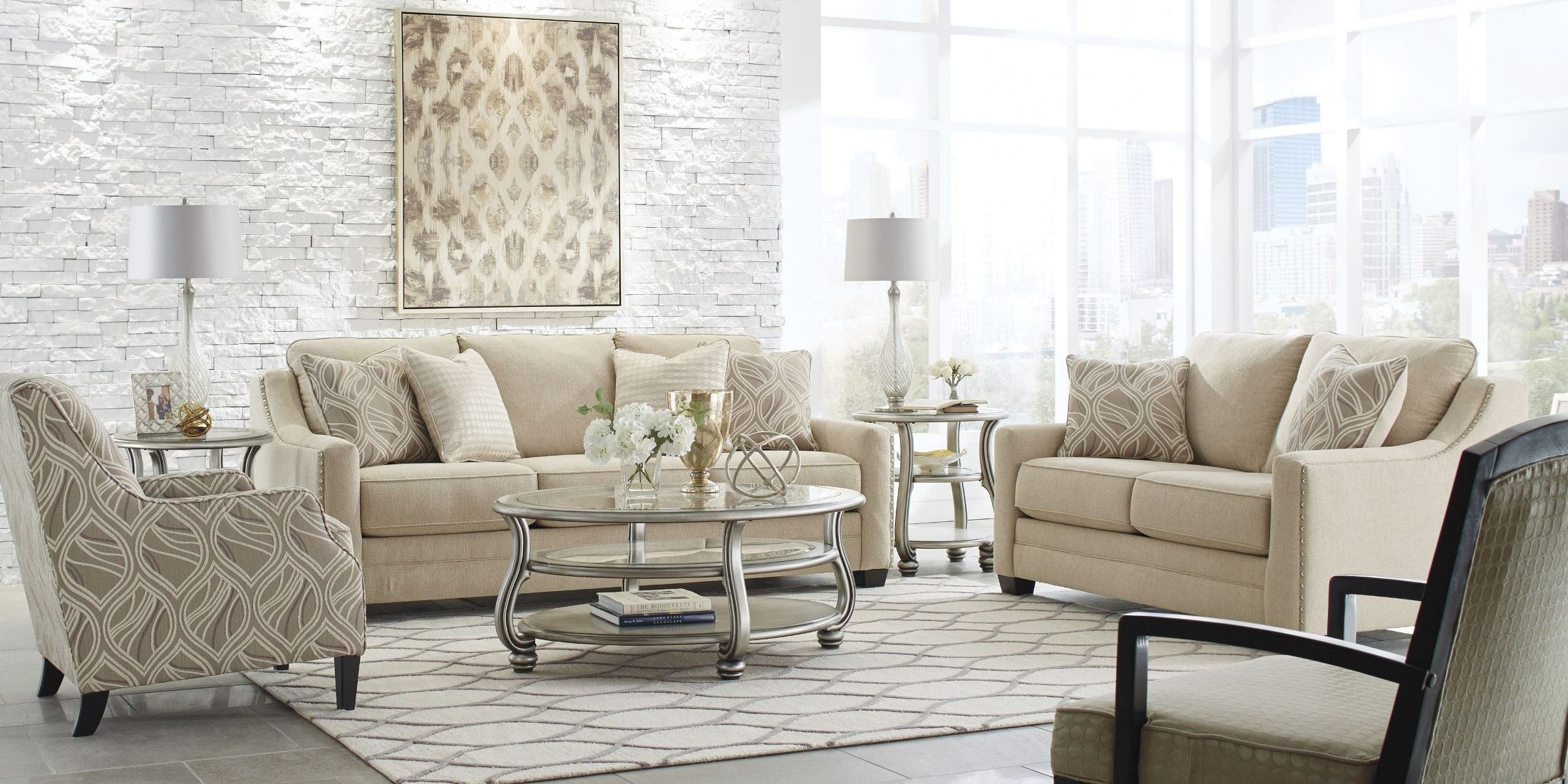 Mauricio Linen Living Room Set from Ashley 8160138  Coleman Furniture