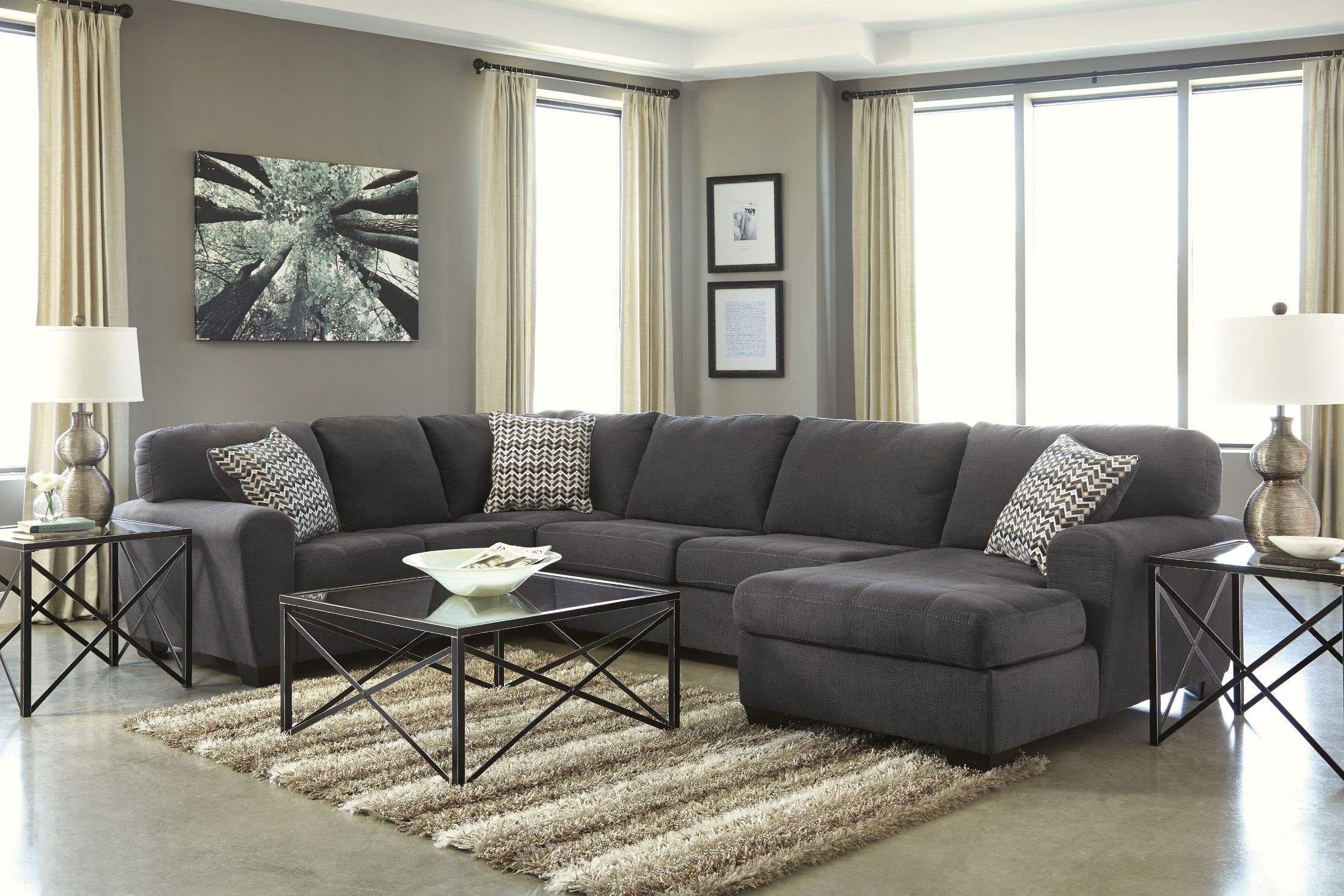 omaha sofa for sale by owner durable brands sorenton slate raf sectional from ashley 2860017
