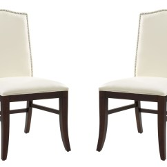 Ivory Leather Office Chair Christmas Back Covers Kirklands Maison Dining Set Of 2 From Sunpan
