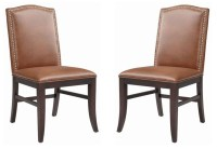 Maison Cognac Leather Dining Chair Set of 2 from Sunpan ...
