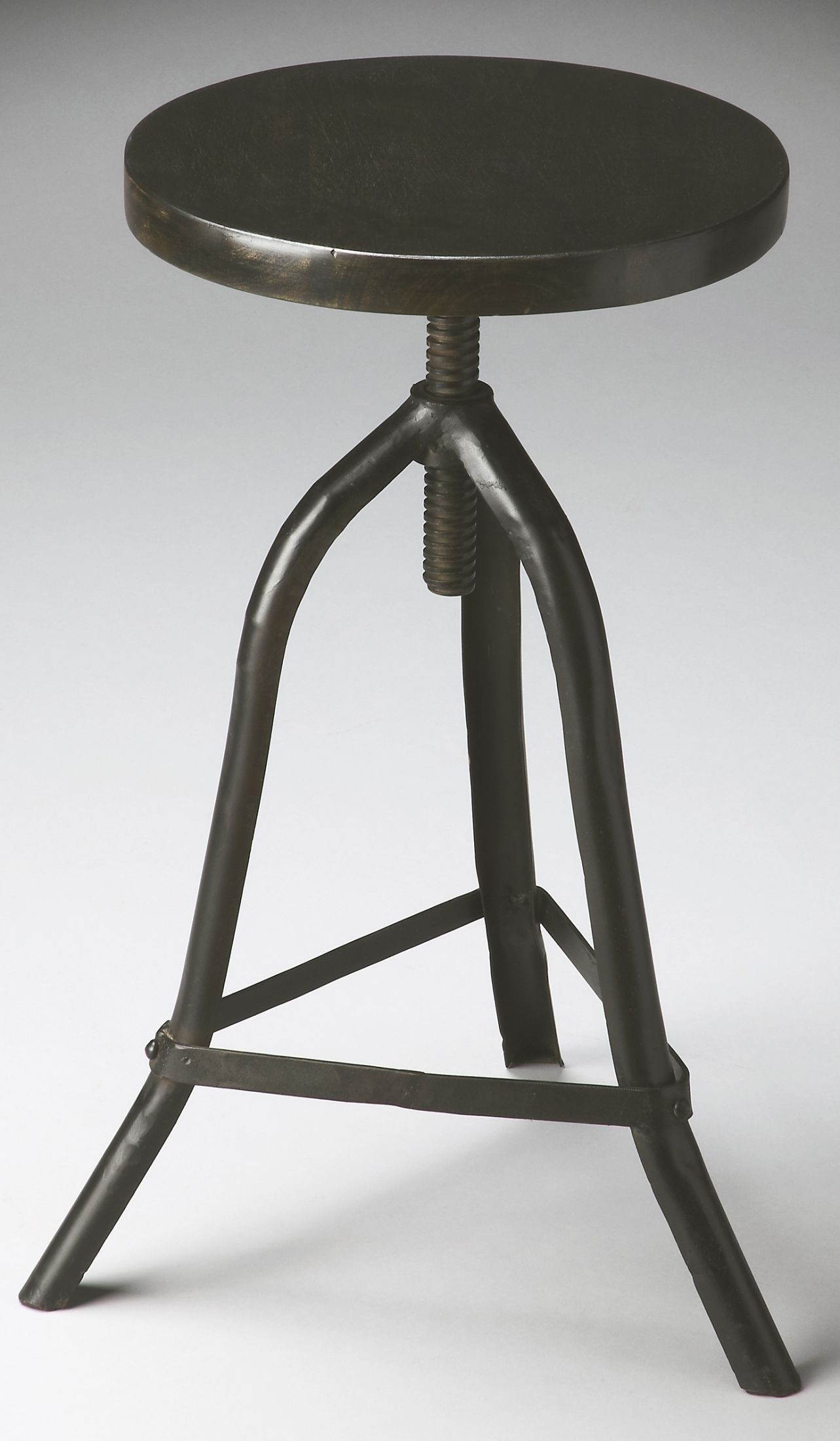 revolving chair with net manual lift industrial chic metalworks stool from butler