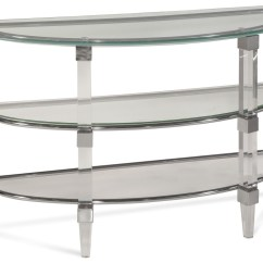 Vogue Chrome Sofa Table Set Covers In Uganda Cristal Acrylic And Console From Bassett