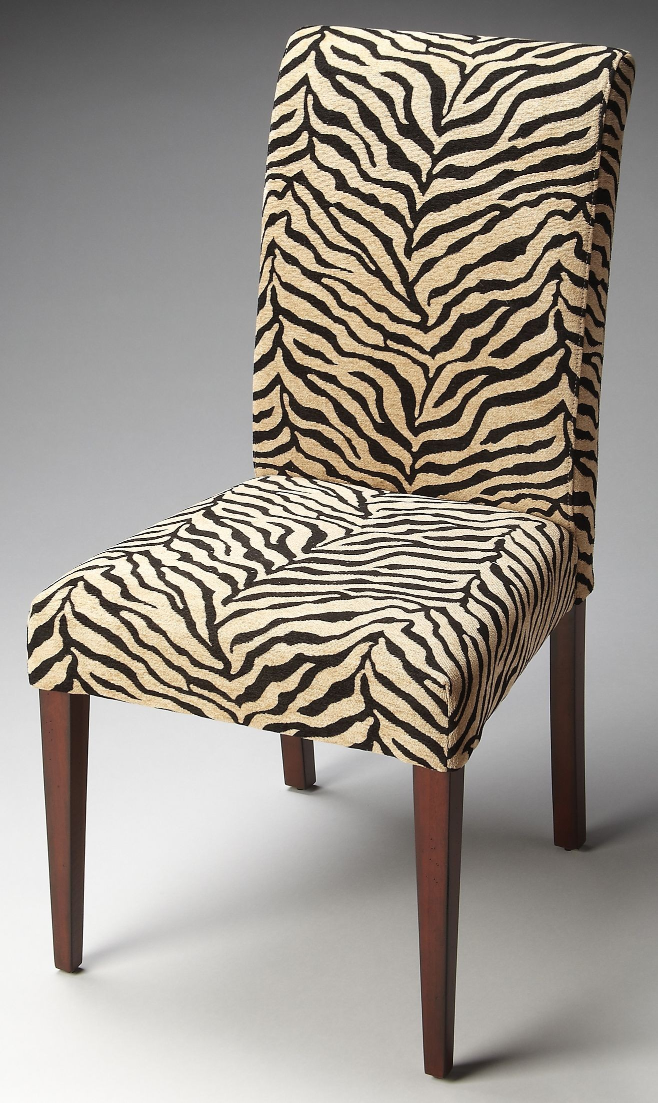 Print Parsons Chair Loft Zebra Print Fabric Parsons Chair From Butler 2956983