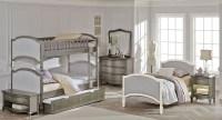 Kensington Antique Silver Victoria Youth Bunk Bedroom Set ...