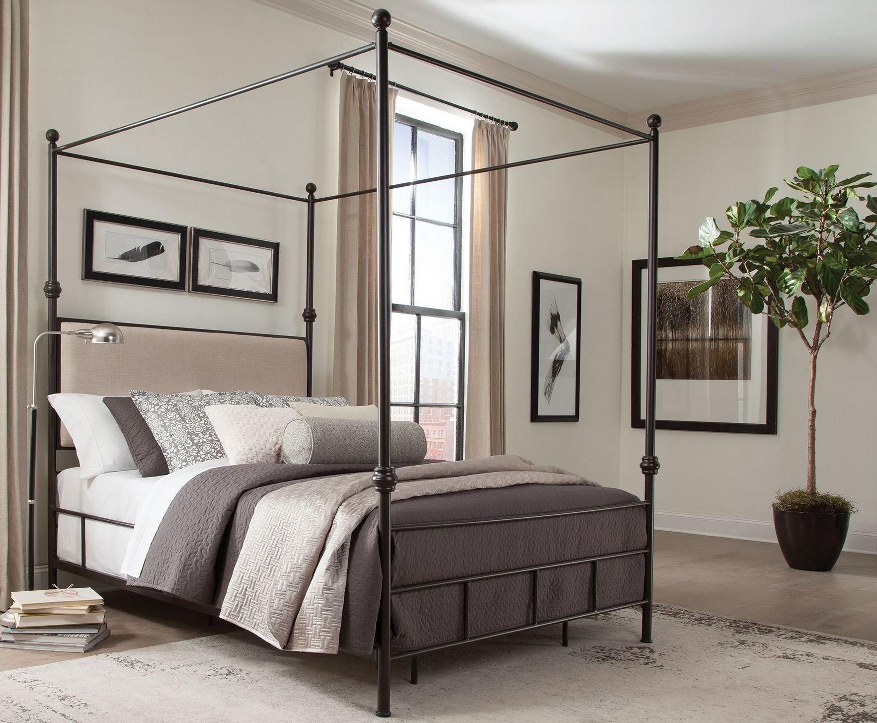 Lanchester King Metal Canopy Bed Ke Donny Osmond