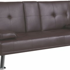 Coaster Futon Sofa Bed With Removable Armrests Review Hay Mags Soft Modular 300692 Brown From Coleman Furniture