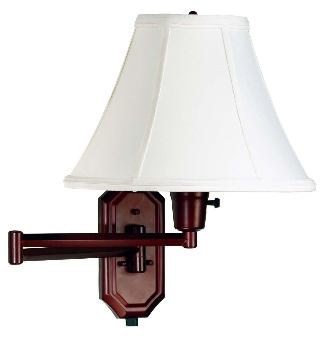 Nathaniel Bronze Wall Swing Arm Lamp from Kenroy (30130BRZ