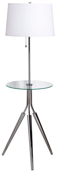 Rosie Floor Lamp with Tray from Kenroy (30510CH) | Coleman ...