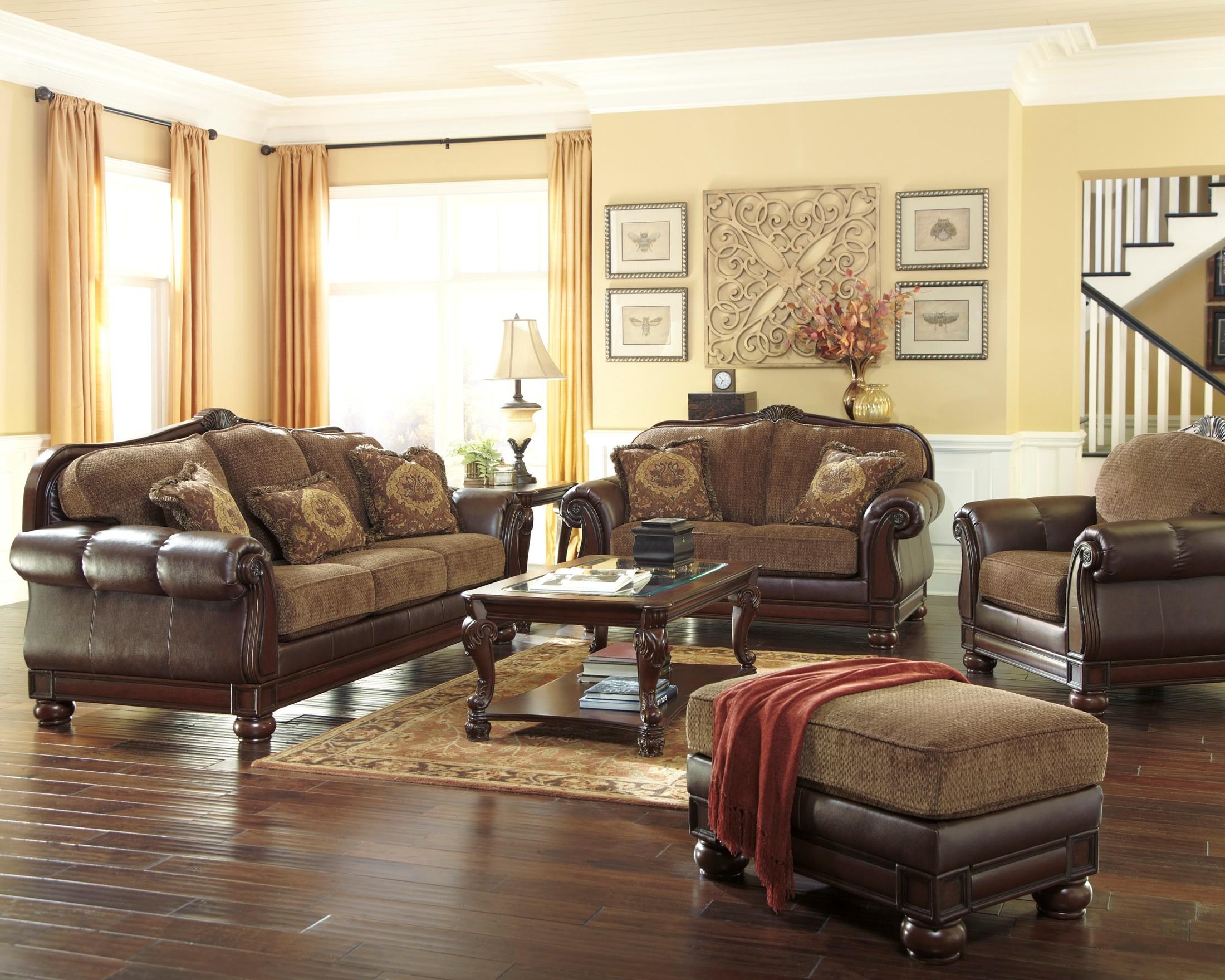 Beamerton Heights Chestnut Living Room Set 306053835 Ashley Furniture