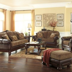 Discount Sofa And Loveseat Sets Best For Living Room Beamerton Heights Chestnut Set, 30605-38-35 ...
