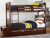 Pulse Cherry Youth Bunk Bedroom Set With Trundle from NE ...
